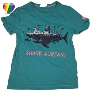 H&M Shark Surfari Graphic Tee Shirt A170449